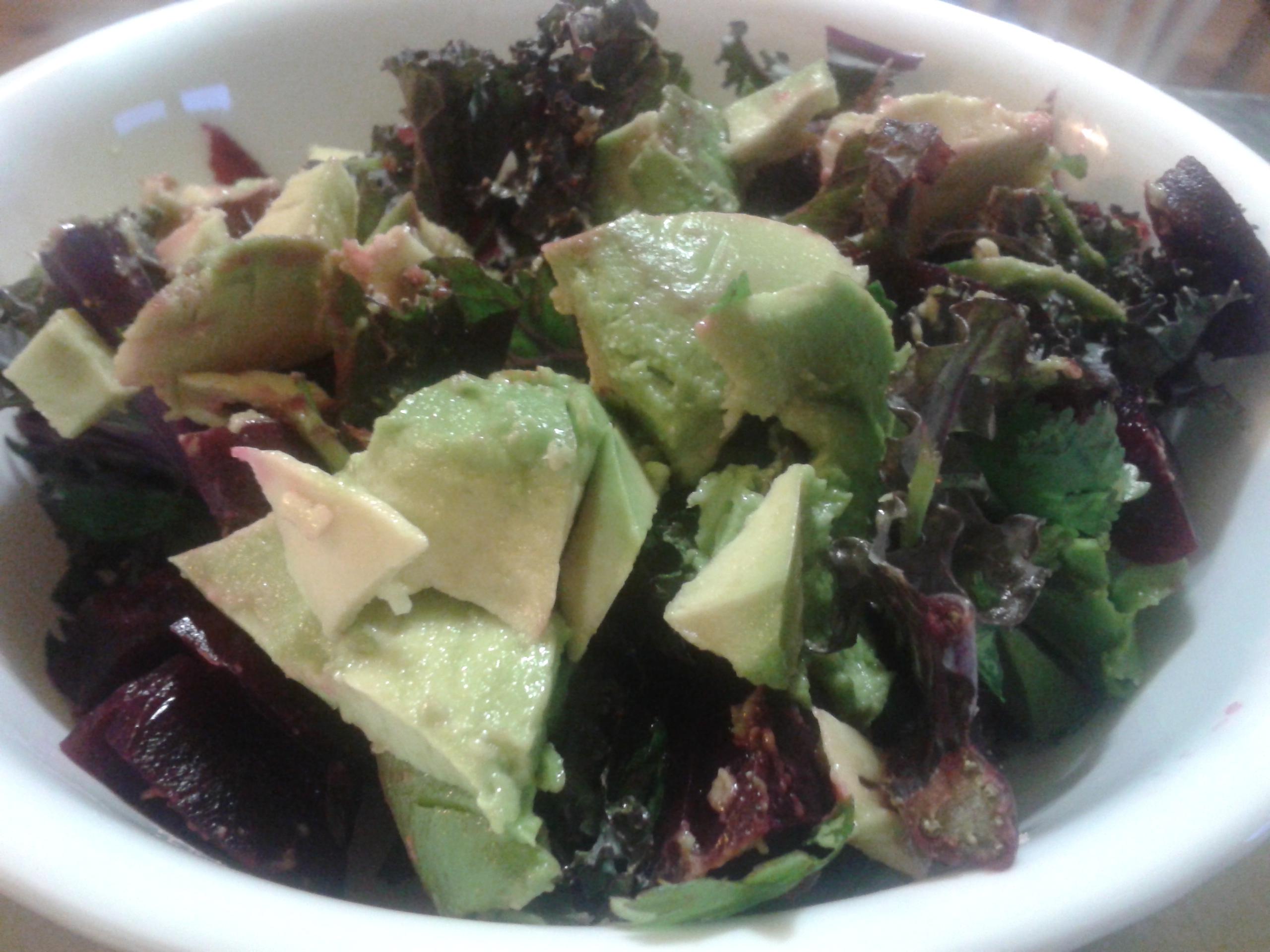 Kale & Beet Salad with Advocado
