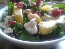 Maple Baked Squash and Kale Salad with Cranberries