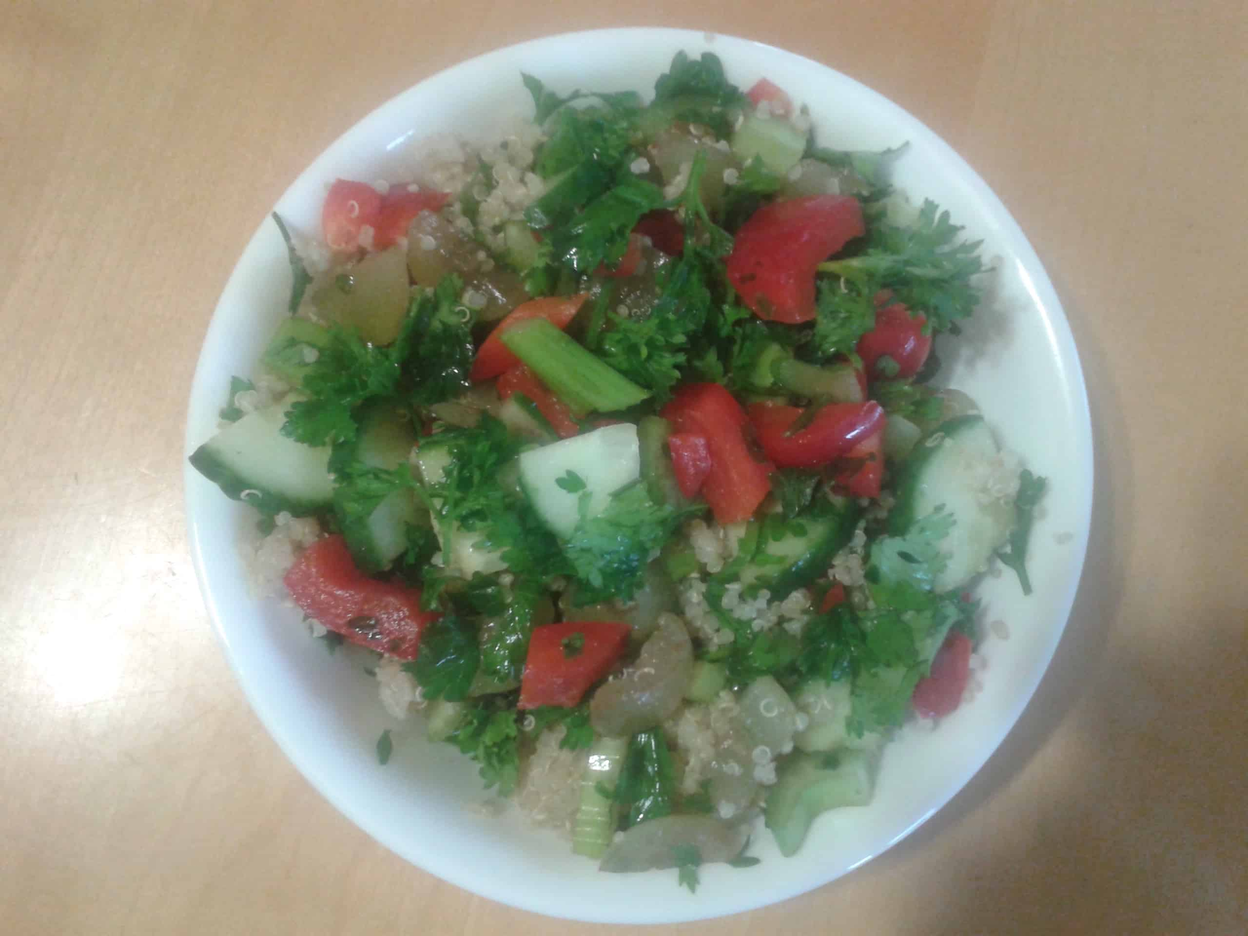 Quinoa, Parsley and Honey Grape Salad