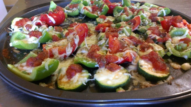 Grain Free Red and Green Pepper Nachos
