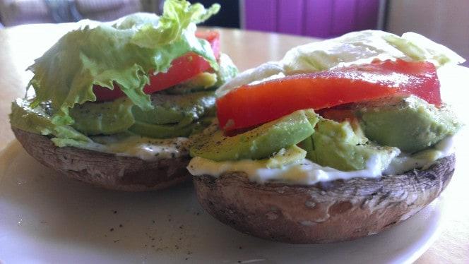 Portobello, Avocado & Tomato Sandwich