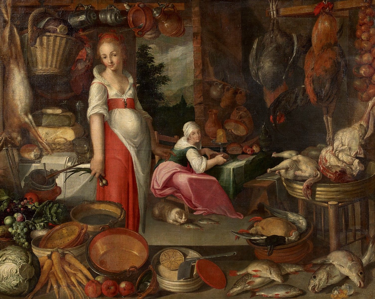 siftingthepast_kitchen-with-pieces-cook-and-kitchen-maid_unknown_16th-century